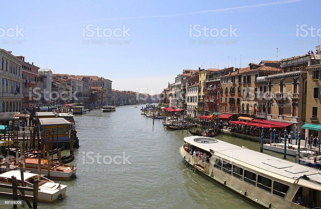 Venice - Vaporetto on Canal Grande royalty-free stock photo