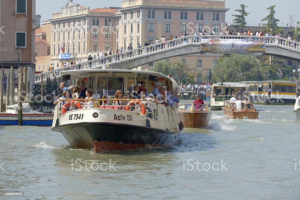 Venice vaporetto stock photo