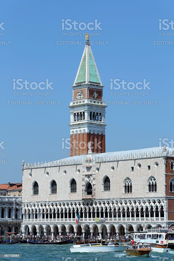 Venice, VE - Italy. 14th July, 2015:  Doge's Palace stock photo