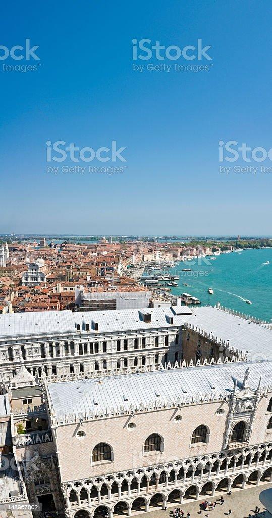Venice vertical Doges Palace Riva degli Schiavoni royalty-free stock photo