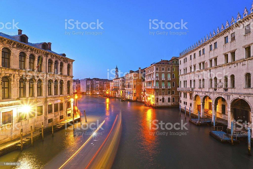 Venice, View from Rialto Bridge. royalty-free stock photo