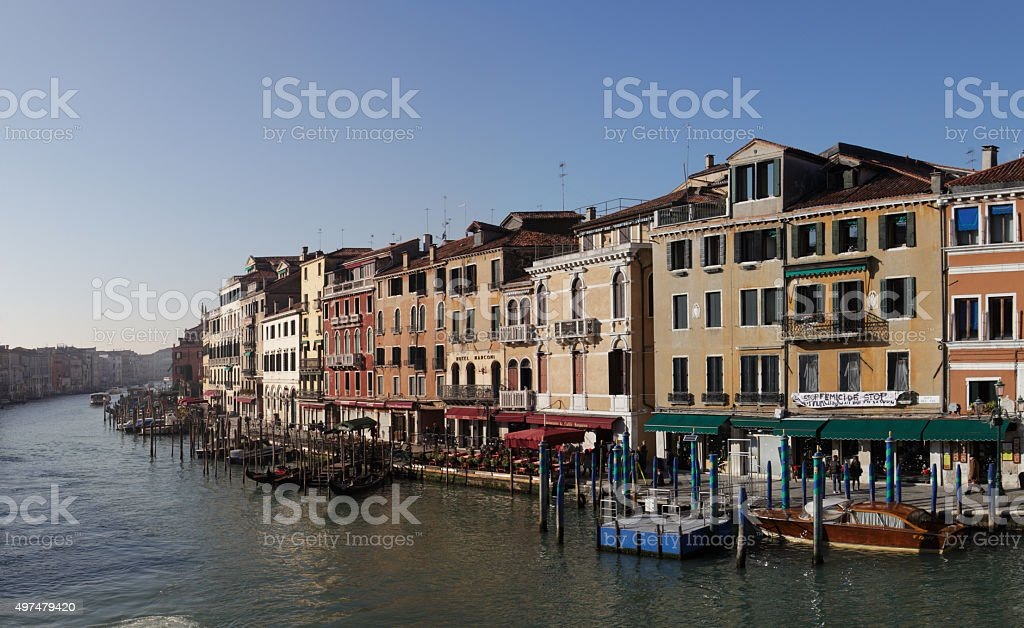 Venice view of Canal Grande stock photo