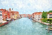 Venice watercolor painting