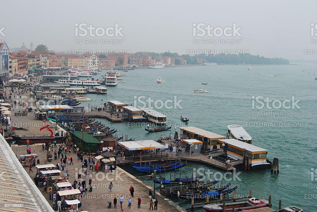 Venice waterfront. stock photo