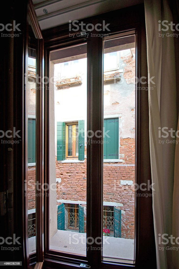 Venice window stock photo