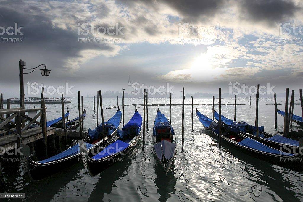 Venice with gondolas in Italy royalty-free stock photo