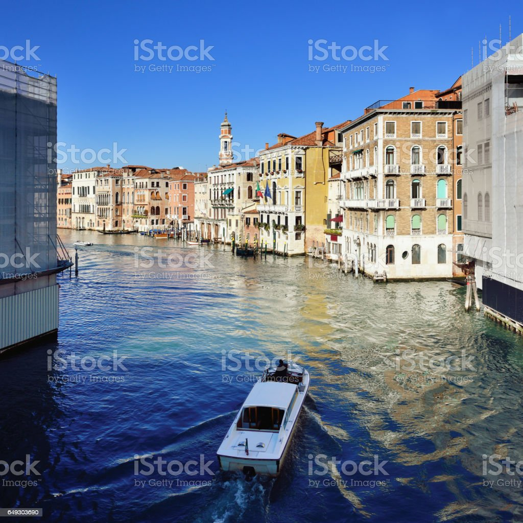 Venice's Grand Canal and Cityscape, Italy stock photo