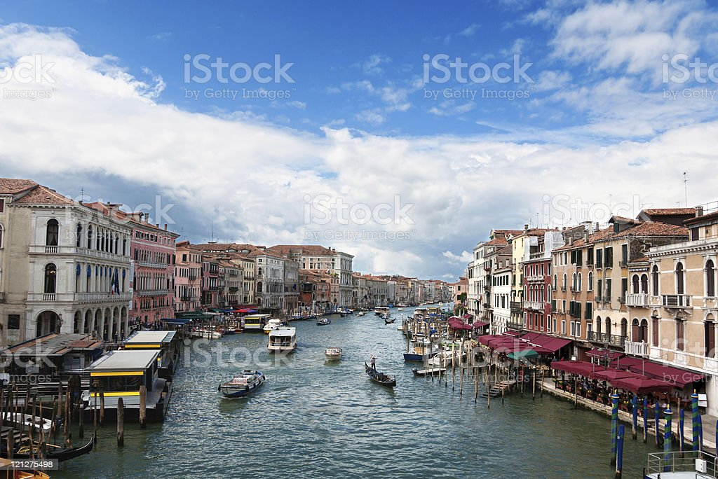 Venice's Grand Canal royalty-free stock photo