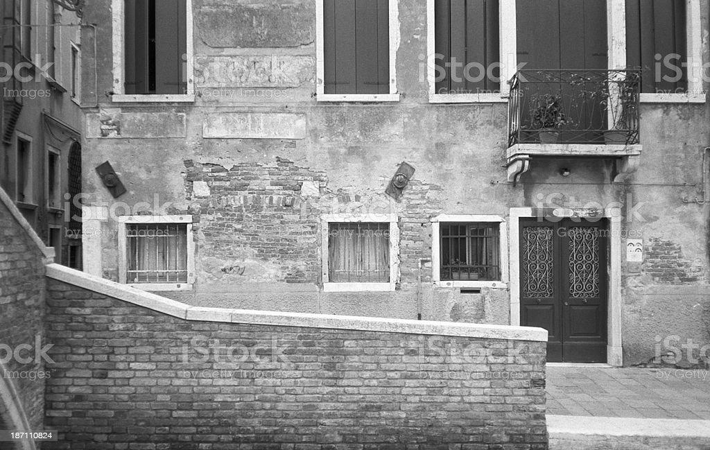 Venice's street corner stock photo