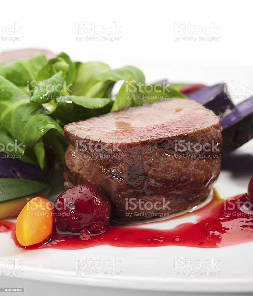 Venison Dish royalty-free stock photo