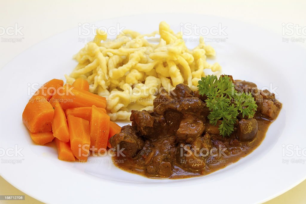 Venison goulash stock photo