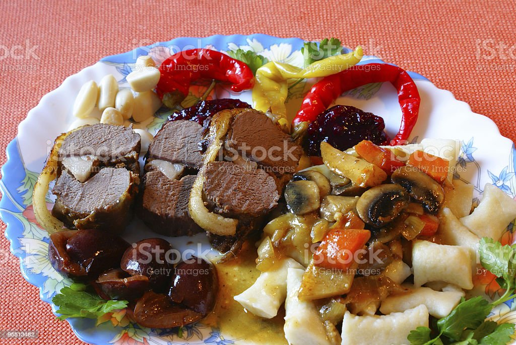 Venison meal royalty-free stock photo