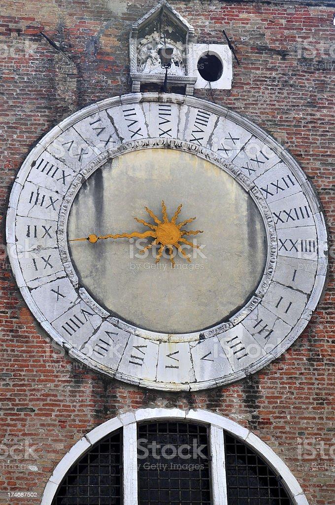 Venitian Clock royalty-free stock photo