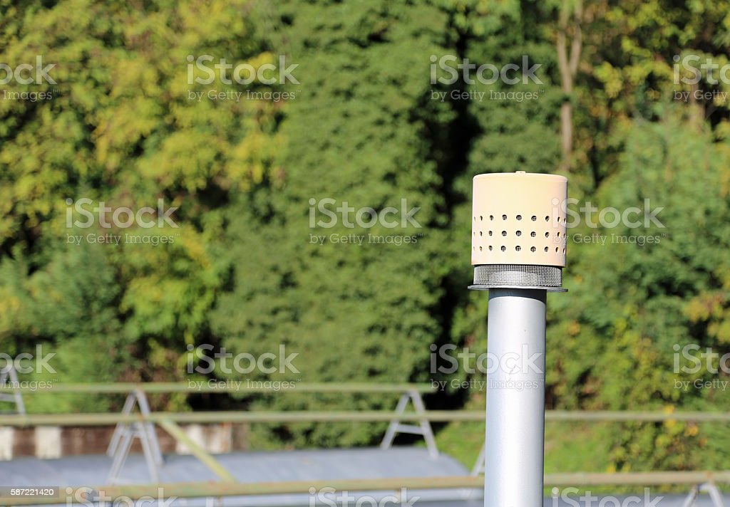vent pipe for the storage of natural gas stock photo