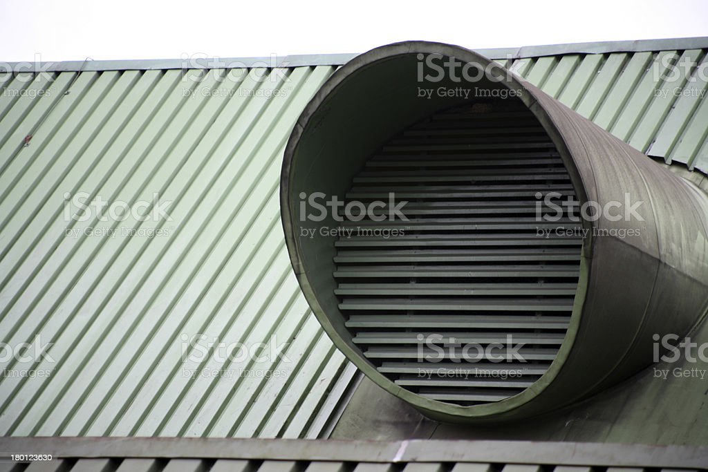 Vent pipes on a building stock photo