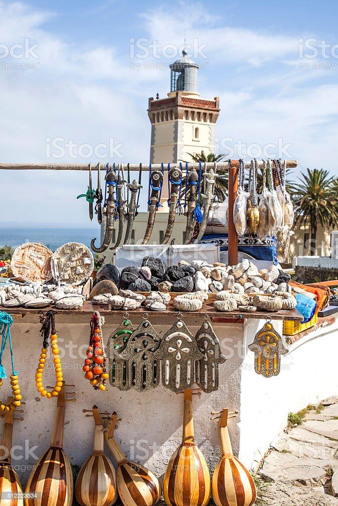 Venta de artesania marroqui. stock photo