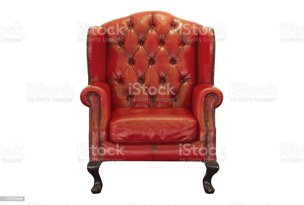 ventage red armchair royalty-free stock photo