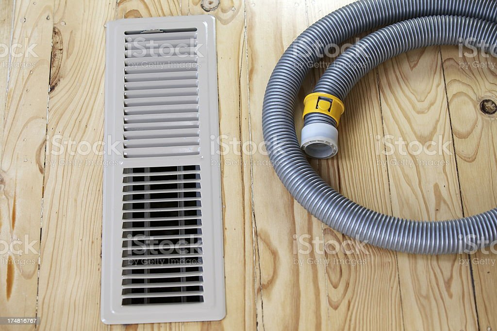 Ventilation Air Duct Cleaning royalty-free stock photo