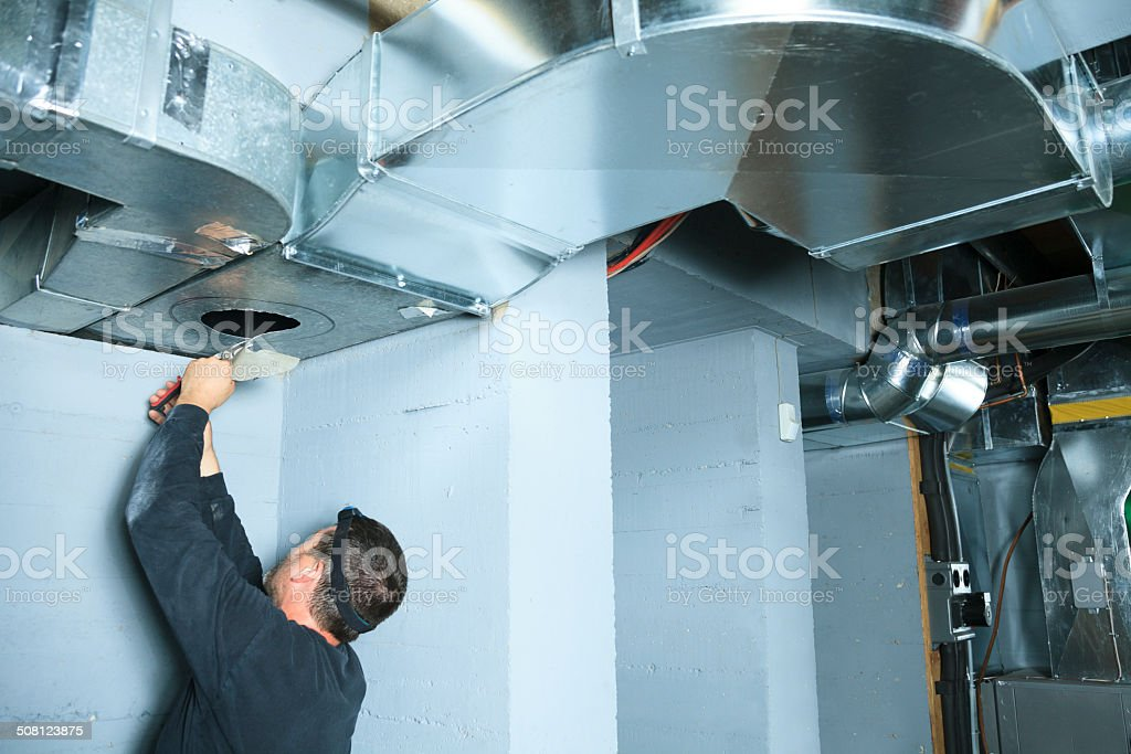Ventilation Cleaner - Air on System stock photo