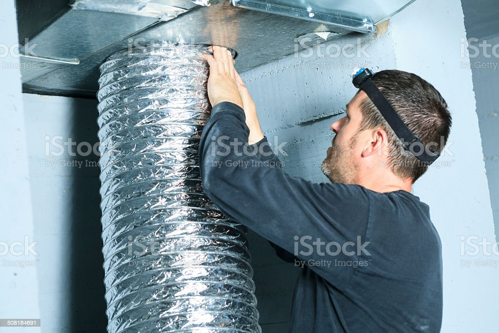 Ventilation Cleaner - Air stock photo