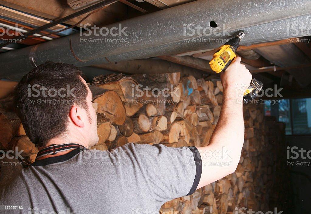 Ventilation Cleaner - Drill Use stock photo
