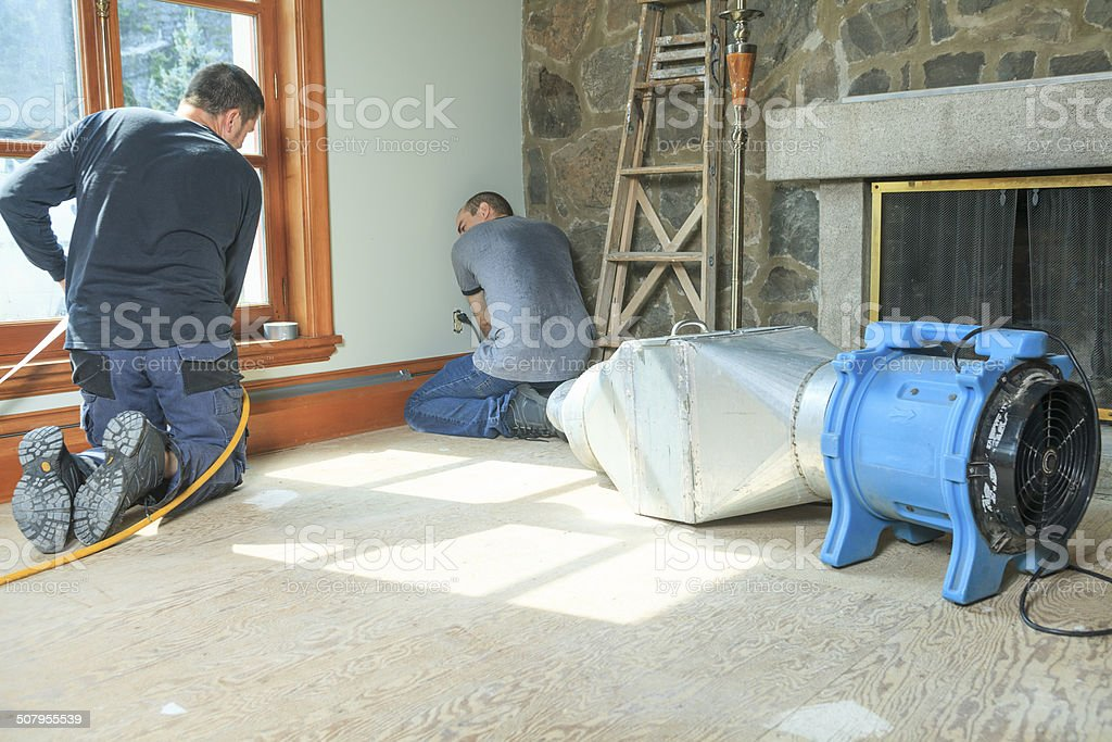 Ventilation Cleaner - House stock photo