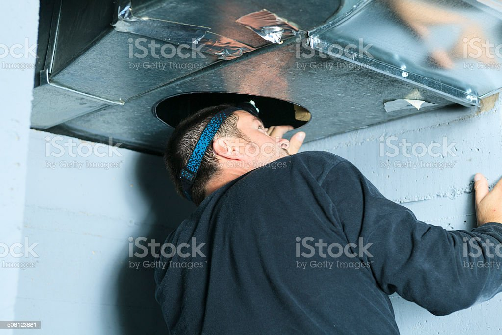 Ventilation Cleaner - Look stock photo