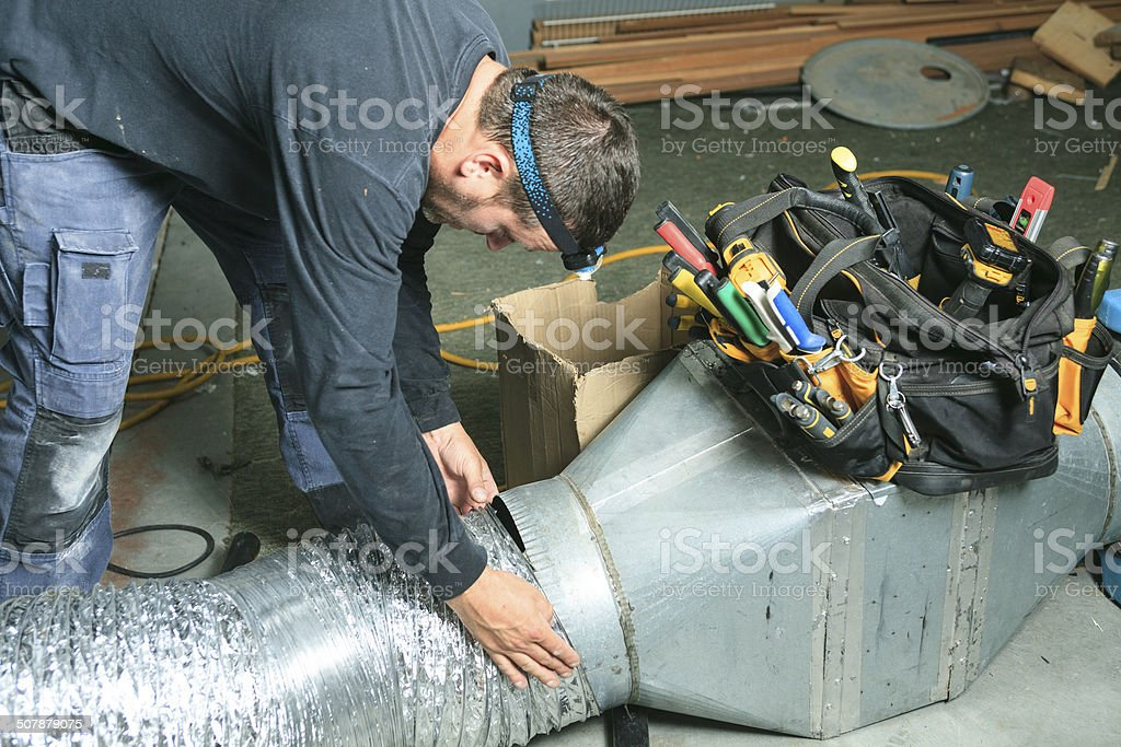 Ventilation Cleaner - System stock photo