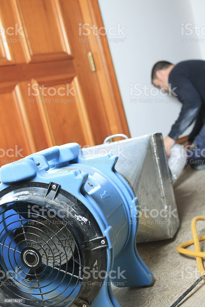 Ventilation Cleaner - Working stock photo