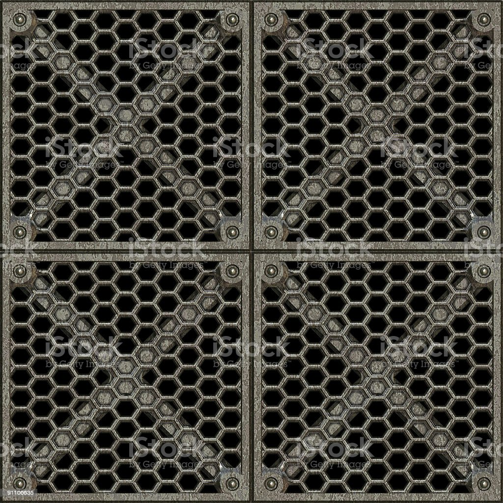 Ventilation Lattice, with Clipping Path. royalty-free stock photo