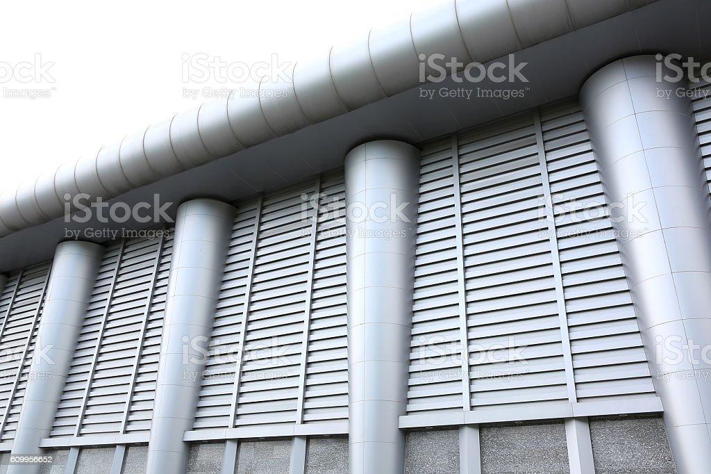Ventilation of factory. stock photo