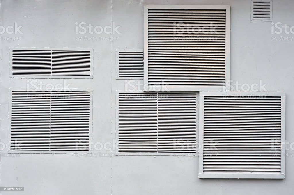 Ventilation on the wall. stock photo
