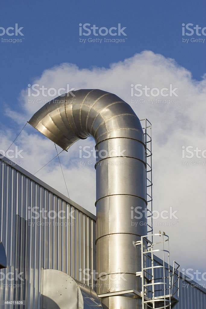 Ventilation pipes of an air conditionon a roof top. royalty-free stock photo