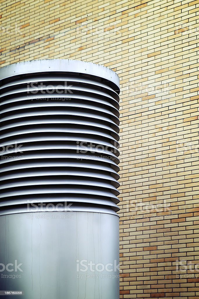 Ventilation system, aircondition exhaust stock photo