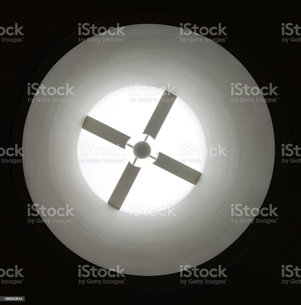 Venting Into Light stock photo