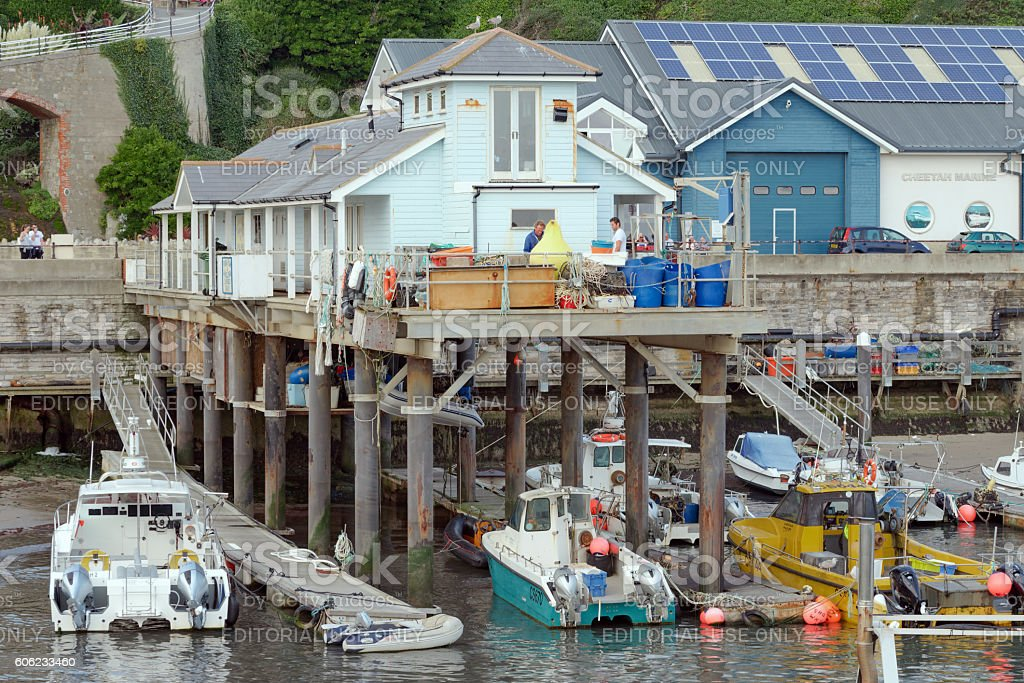 Ventnor Fishing Port on the Isle of Wight stock photo