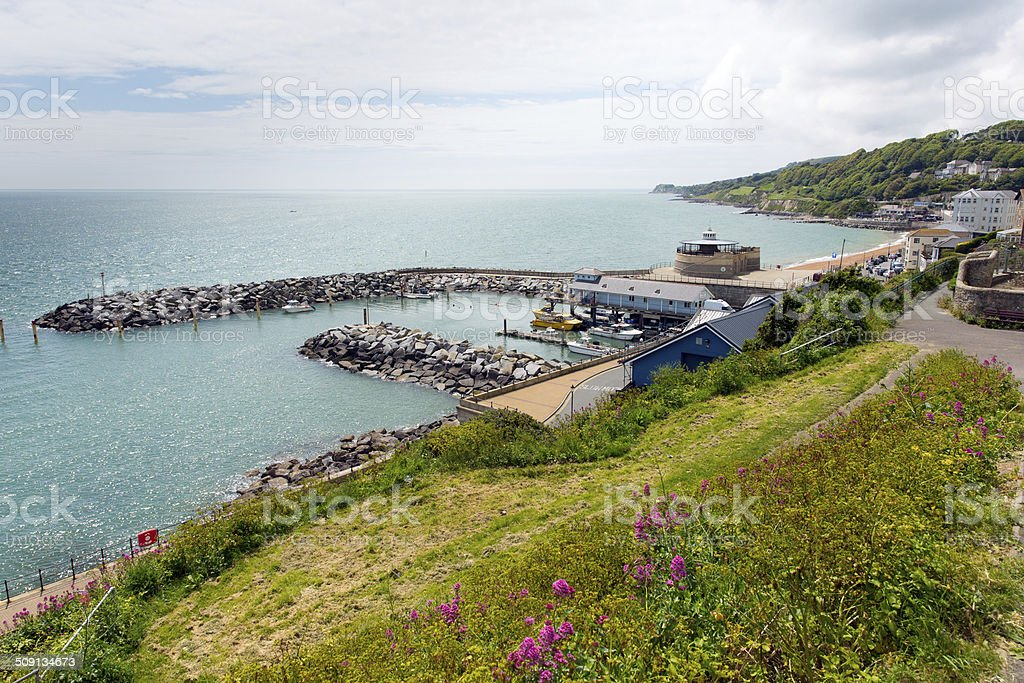 Ventnor harbour Isle of Wight south coast island tourist town stock photo