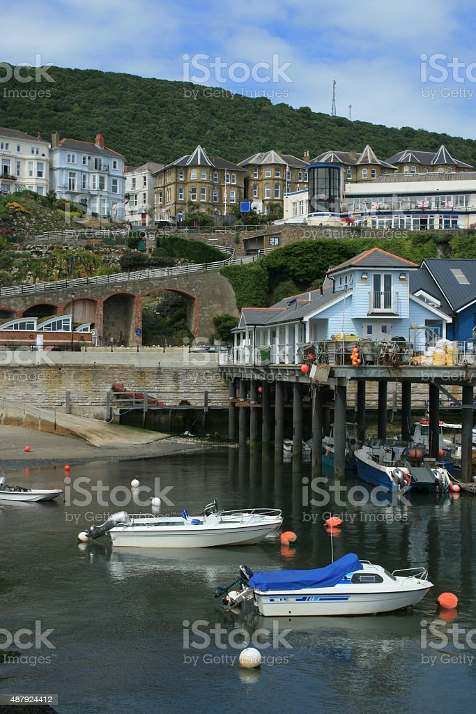 Ventnor Harbour stock photo