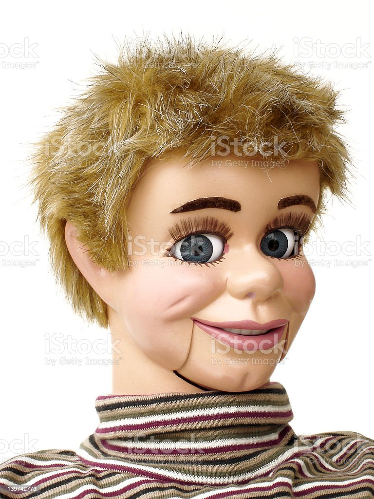 Ventriloquist dummy 4 stock photo