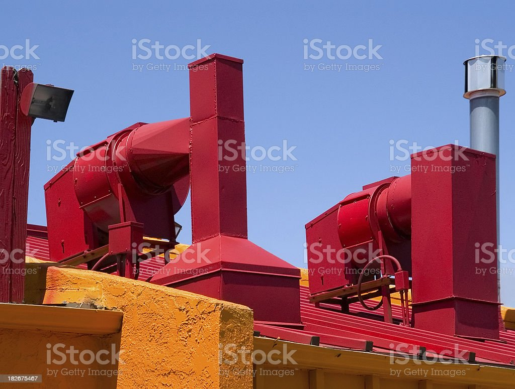 Vents and Stacks royalty-free stock photo