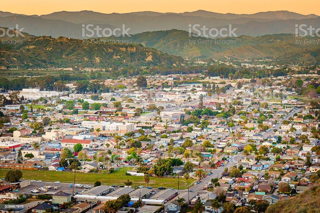 Ventura California USA Cityscape with Hills stock photo