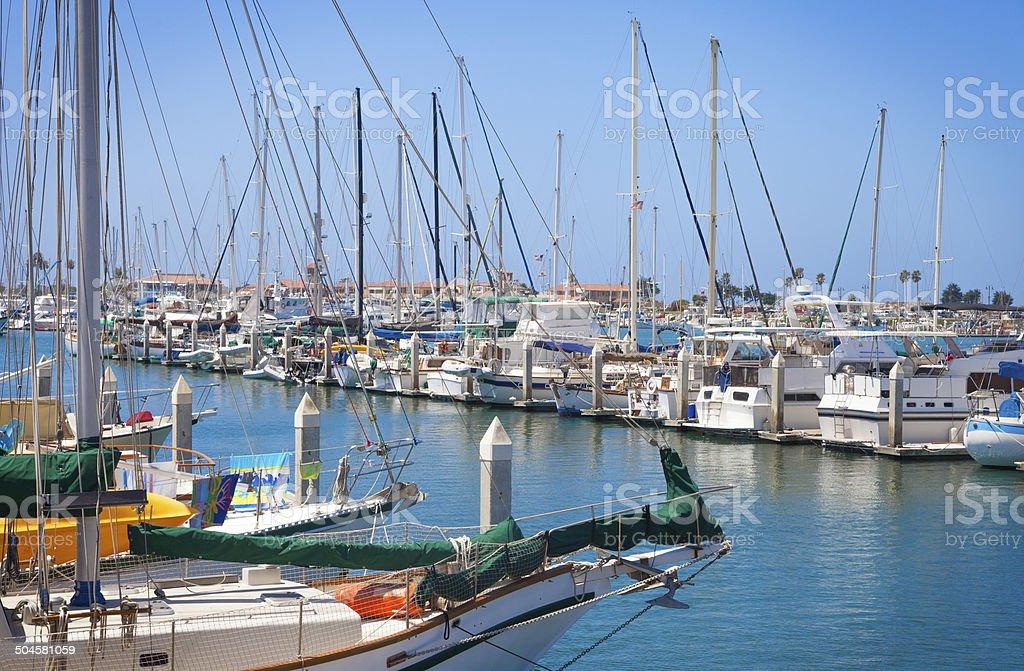 Ventura harbor, Southern California stock photo