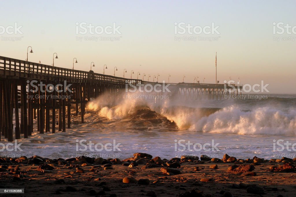 Ventura ocean Waves stock photo