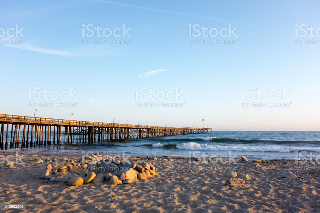 Ventura Wooden Pier stock photo