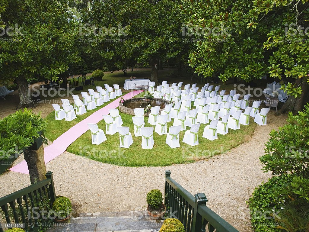 Venue for a wedding royalty-free stock photo