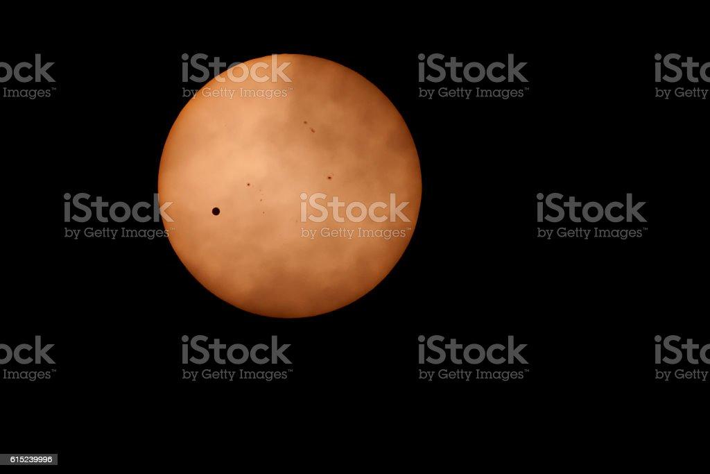Venus across Sun. stock photo