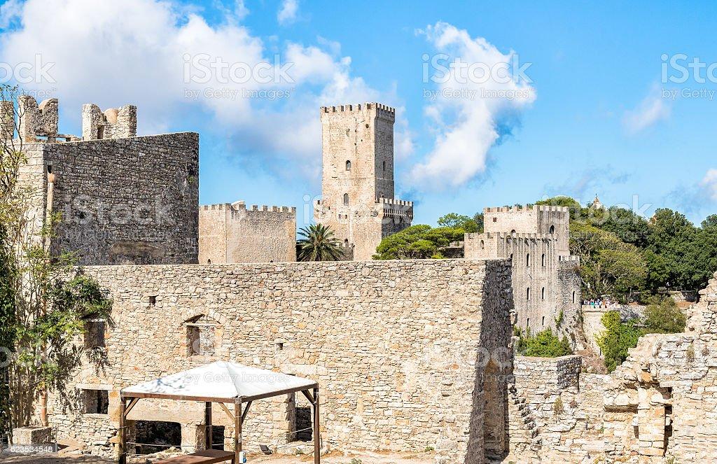 Venus Castleof Erice, Sicily, Italy stock photo