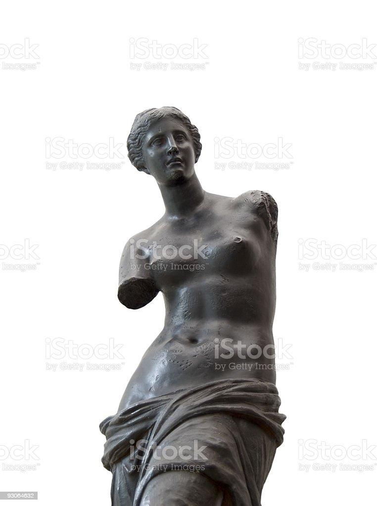 Venus de Milo in black royalty-free stock photo