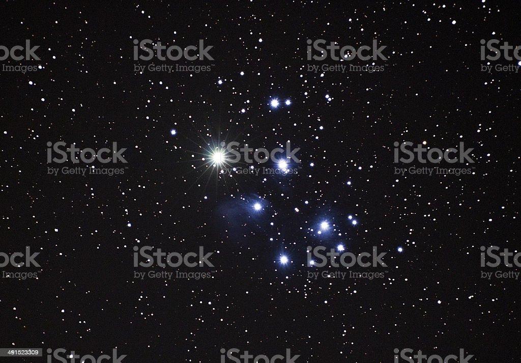 Venus in Pleiades royalty-free stock photo