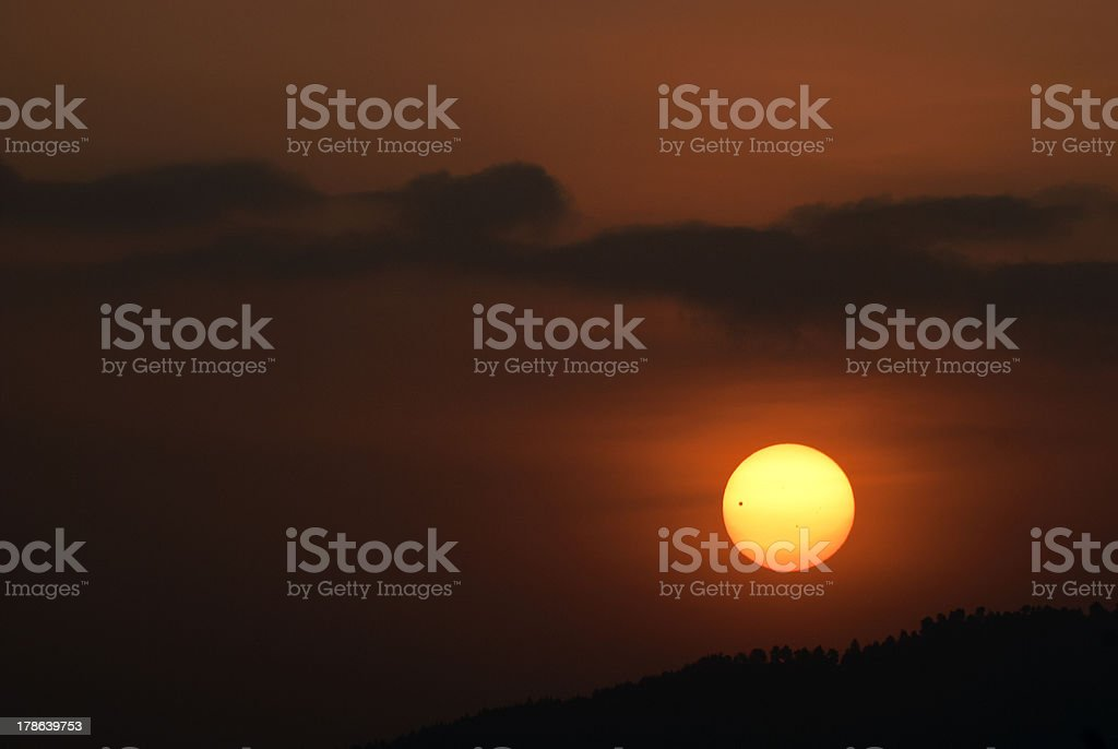 Venus transit via Sun royalty-free stock photo